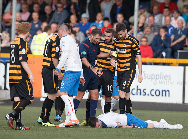 Nicky Clark flattened