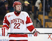 Tommy Kelley (BU - 22) - The Boston College Eagles defeated the Boston University Terriers 3-1 (EN) in their opening round game of the 2014 Beanpot on Monday, February 3, 2014, at TD Garden in Boston, Massachusetts.