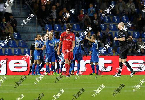 2013-10-03 / Voetbal / seizoen 2013-2014 / UEFA EUROPA LEAGUE / KRC Genk - FC Thun / Michael Siegfried (2-0)<br /><br />Foto: Mpics.be