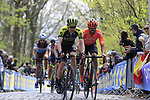 Chris Juul Jensen (IRL/DEN) Mitchelton-Scott on the the first ascent of the Kemmelberg during the 2019 Gent-Wevelgem in Flanders Fields running 252km from Deinze to Wevelgem, Belgium. 31st March 2019.<br /> Picture: Eoin Clarke | Cyclefile<br /> <br /> All photos usage must carry mandatory copyright credit (© Cyclefile | Eoin Clarke)