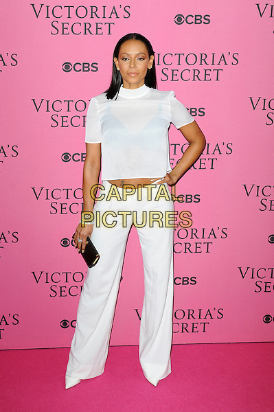 LONDON, ENGLAND - DECEMBER 2:  Melanie Brown attends the pink carpet for Victoria's Secret Fashion Show 2014, Earls Court on December 2, 2014 in London, England.<br /> CAP/MAR<br /> &copy; Martin Harris/Capital Pictures