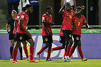 29th October 2019; Bezerrao Stadium, Brasilia, Distrito Federal, Brazil; FIFA U-17 World Cup Brazil 2019, Angola versus Canada; Players of Angola celebrate their goal from David in the 94th minute, 2-1 - Editorial Use