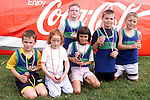 Ronan Matthews, Liam Matthews, Ronan O'Brien, Brian Moran, Rebecca Woods and Caitlin Browne at Boyne Athletic Club's annual meeting at Meadowview sportsfield..Picture Paul Mohan Newsfile
