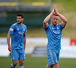 Adam Rooney celebrates Aberdeen's win at full-time