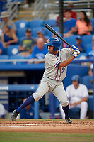 St. Lucie Mets shortstop J.C. Rodriguez (35) at bat during a game against the Dunedin Blue Jays on April 20, 2017 at Florida Auto Exchange Stadium in Dunedin, Florida.  Dunedin defeated St. Lucie 6-4.  (Mike Janes/Four Seam Images)