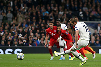 Harry Kane of Tottenham Hotspur scores Tottenham's second goal from the penalty spot during Tottenham Hotspur vs FC Bayern Munich, UEFA Champions League Football at Tottenham Hotspur Stadium on 1st October 2019