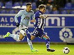 Deportivo Alaves' Kiko Femenia (r) and Celta de Vigo's Theo Bongonda during Spanish Kings Cup semifinal 2nd leg match. February 08,2017. (ALTERPHOTOS/Acero)