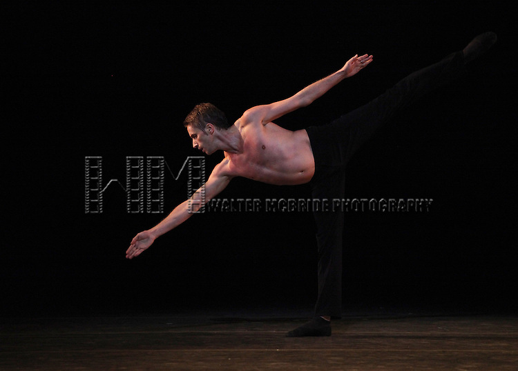 Andrei Merkuriev from the Bolshi Ballet performing 'Distant Cries' during the rehearsal for 'Stars of the 21st Century' at the David H. Koch Theater at Lincoln Center  on October 18, 2012 in New York City.