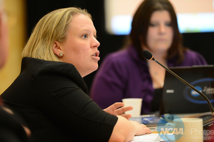 16 JAN 2013: The Division II Management Council during the 2013 NCAA Convention held at the Gaylord Texan in Grapevine, TX. Stephen Nowland/NCAA Photos.Pictured: Amanda Conklin
