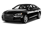 2019 Audi A5-Sportback Premium 5 Door Hatchback Angular Front stock photos of front three quarter view