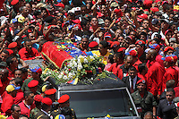 The coffin is carried trough the streest of Caracas during the funeral of Commander Hugo Chavez, Presdient of Venezuela during the last 14 years