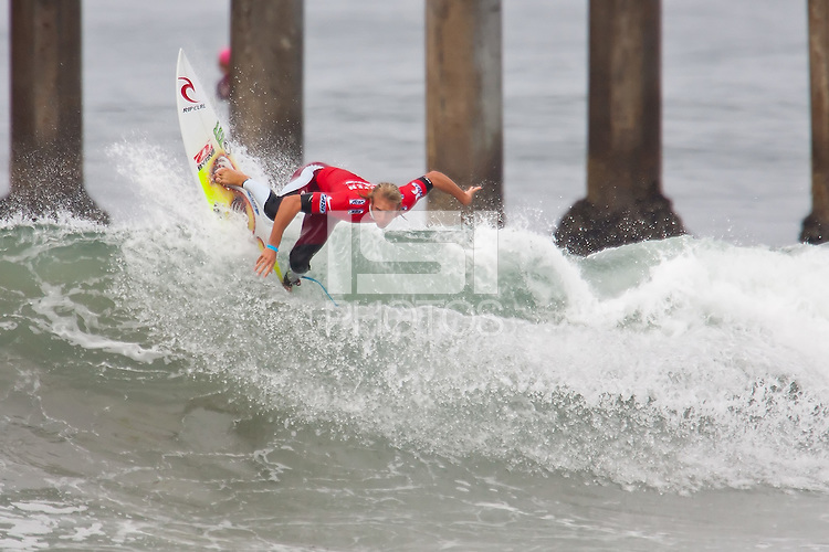 HUNTINGTON BEACH, California - August 2012: The 2012 US Open of Surfing.