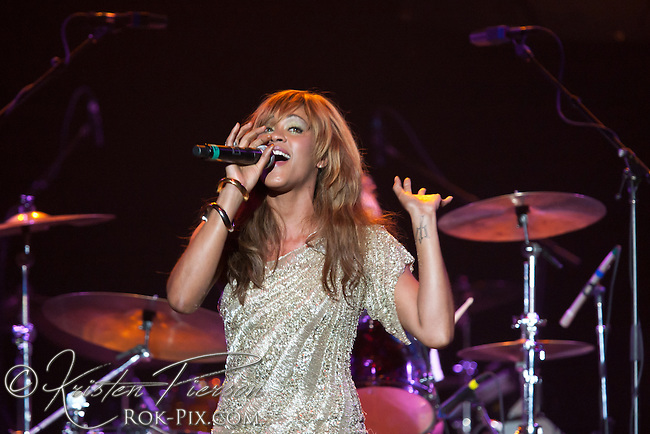 "Shontelle performs at the Zeiterion Theater for the Fun 107 ""Girls Night Out"" concert on August 20, 2011"