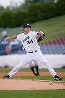 Starting pitcher Nate Bump (34) of the Connecticut Defenders in action versus the Trenton Thunder at Dodd Stadium in Norwich, CT, Tuesday, June 3, 2008.