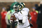 South Florida Bulls quarterback Quinton Flowers (9) in action during the game between the South Florida Bulls and the SMU Mustangs at the Gerald J. Ford Stadium in Fort Worth, Texas. SMU leads USF 13 to 0 at halftime.