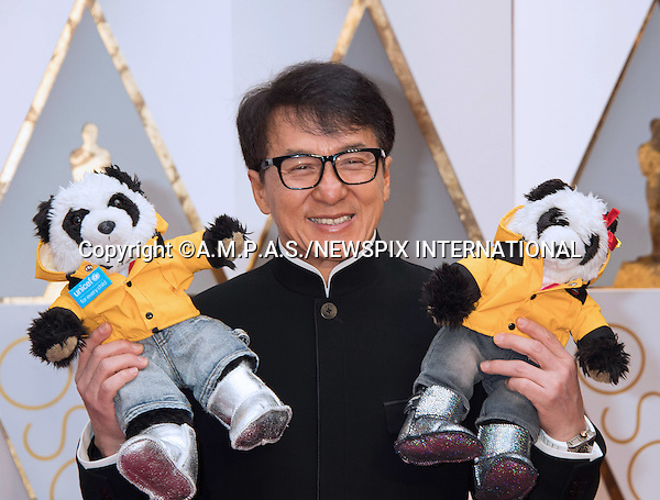 26.02.2017; Hollywood, USA: JACKIE CHAN<br /> attends The 89th Annual Academy Awards at the Dolby&reg; Theatre in Hollywood.<br /> Mandatory Photo Credit: &copy;AMPAS/NEWSPIX INTERNATIONAL<br /> <br /> IMMEDIATE CONFIRMATION OF USAGE REQUIRED:<br /> Newspix International, 31 Chinnery Hill, Bishop's Stortford, ENGLAND CM23 3PS<br /> Tel:+441279 324672  ; Fax: +441279656877<br /> Mobile:  07775681153<br /> e-mail: info@newspixinternational.co.uk<br /> Usage Implies Acceptance of Our Terms &amp; Conditions<br /> Please refer to usage terms. All Fees Payable To Newspix International