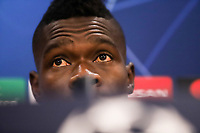 Player of Olympiacos FC, Pape Abou Cisse attends a press conference ahead of the UEFA Champions League match against Tottenham Hotspur, in Karaiskaki Stadium in Piraeus, Greece. Tuesday 17 September 2019