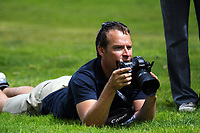 Getty Images photographer Hagen Hopkins on day four of the 2017 Asia-Pacific Amateur Golf Championship at Royal Wellington Golf Club in Wellington, New Zealand on Sunday, 29 October 2017. Photo: Dave Lintott / lintottphoto.co.nz