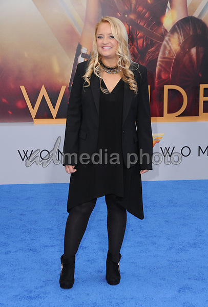 "25 May 2017 - Hollywood, California - Lucy Davis. World  Premiere of Warner Bros. Pictures'  ""Wonder Woman"" held at The Pantages Theater in Hollywood. Photo Credit: Birdie Thompson/AdMedia"