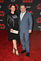 "Patton Oswalt & Meredith Salenger at the world premiere for ""Star Wars: The Last Jedi"" at the Shrine Auditorium. Los Angeles, USA 09 December  2017<br /> Picture: Paul Smith/Featureflash/SilverHub 0208 004 5359 sales@silverhubmedia.com"