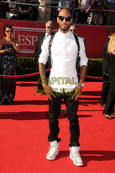 Swizz Beatz (Kasseem Daoud Dean) .2012 ESPY Awards - arrivals held at Nokia Theatre L.A. Live,  Los Angeles, California, USA..11th July 2012.full length shirt jeans denim white shirt beard facial hair sunglasses shades .CAP/ADM/BP.©Byron Purvis/AdMedia/Capital Pictures.