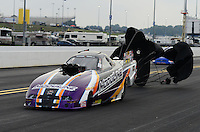 Sept. 16, 2012; Concord, NC, USA: NHRA top alcohol funny car driver Paul Gill during the O'Reilly Auto Parts Nationals at zMax Dragway. Mandatory Credit: Mark J. Rebilas-