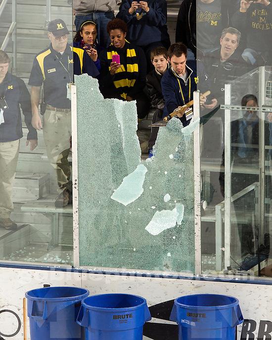 The University of Michigan ice hockey team beat Western Michigan University, 2-0, at Yost Ice Arena in Ann Arbor, Mich., on December 15, 2012.
