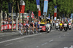 The breakaway group lead the way at the end of the Champs Elysee during the final Stage 21 of the 2009 Tour de France running 164km from Montereau-Fault-Yonne to Paris Champs-Elysees, France. 26th July 2009 (Photo by Eoin Clarke/NEWSFILE)