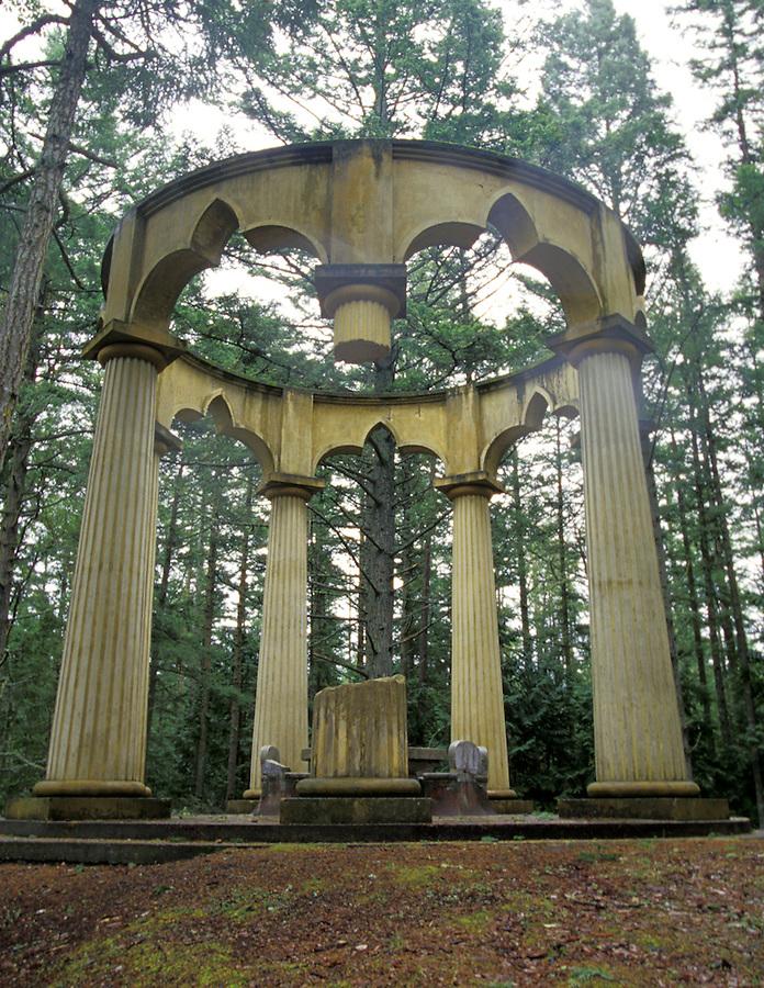Afterglow Vista Mausoleum of the John McMillin family, Roche Harbor, San Juan Island, Washington