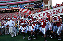 10 Sept 2011: Nebraska Cornhuskers lead by head coach Bo Pelini take the field to play Fresno State Bulldogs at Memorial Stadium in Lincoln, Nebraska. Nebraska defeated Fresno State 42 to 29.