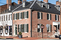 Historic downtown Fredericksburg, Virginia, USA