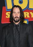"HOLLYWOOD, CA - JUNE 11: Keanu Reeves, at The Premiere Of Disney And Pixar's ""Toy Story 4"" at El Capitan theatre in Hollywood, California on June 11, 2019. Credit: Faye Sadou/MediaPunch"