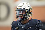 Scotty Washington (7) of the Wake Forest Demon Deacons prior to the game against the Louisville Cardinals at BB&T Field on October 28, 2017 in Winston-Salem, North Carolina.  The Demon Deacons defeated the Cardinals 42-32.  (Brian Westerholt/Sports On Film)