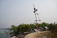 A public adrress system on a path in Sunderbans, West Bengal, India. Arindam Mukherjee