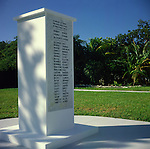 War memorial, Cayman Brac, Cayman Islands,
