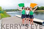 Zoe Hyde, Killorglin, Anna Tyther Killorglin and Molly Sullivan Killarney from Killorglin Rowing club who have all represented Ireland this Summer