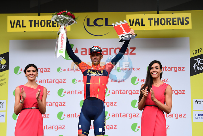 Vincenzo Nibali (ITA) Bahrain-Merida wins Stage 20 and also the day's combativity prize of the 2019 Tour de France running 59.5km from Albertville to Val Thorens, France. 27th July 2019.<br /> Picture: ASO/Alex Broadway | Cyclefile<br /> All photos usage must carry mandatory copyright credit (© Cyclefile | ASO/Alex Broadway)