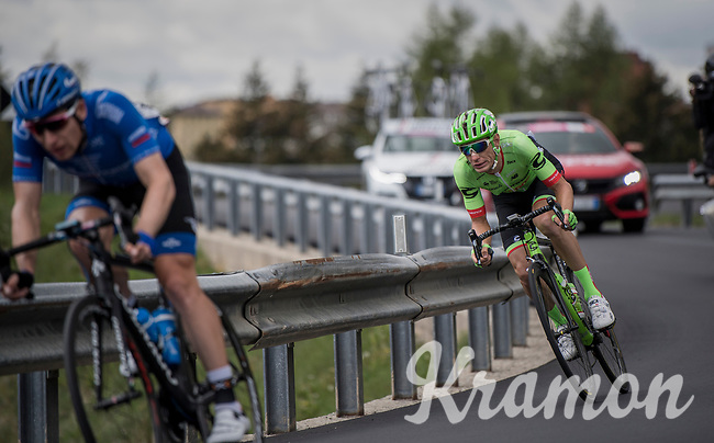Pierre Rolland (FRA/Cannondale-Drapac) underway to victory in Stage 17: Tirano &rsaquo; Canaze (219km)<br /> <br /> 100th Giro d'Italia 2017