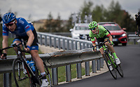Pierre Rolland (FRA/Cannondale-Drapac) underway to victory in Stage 17: Tirano › Canaze (219km)<br /> <br /> 100th Giro d'Italia 2017
