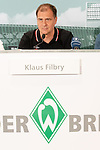 14.06.2019, Wohninvest Weserstadion, Bremen, GER, 1.FBL, Werder Bremen Partnerschaft mit Wohninvest, <br /> <br /> Werder Bremen hat die Namensrecht für 10 Jahre an die Wohninvest in Stuttgart verkauft. Das Stadiuon wird künftig wohninvest Weserstadion heißen<br /> im Bild<br /> <br /> Klaus Filbry (Vorsitzender der Geschäftsführung / Kaufmännischer Geschäftsführer SV Werder Bremen)<br /> <br /> Foto © nordphoto / Kokenge