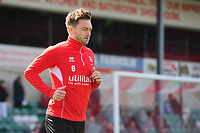 Lincoln City's Lee Frecklington during the pre-match warm-up<br /> <br /> Photographer Chris Vaughan/CameraSport<br /> <br /> The EFL Sky Bet League Two - Lincoln City v Cheltenham Town - Saturday 13th April 2019 - Sincil Bank - Lincoln<br /> <br /> World Copyright &copy; 2019 CameraSport. All rights reserved. 43 Linden Ave. Countesthorpe. Leicester. England. LE8 5PG - Tel: +44 (0) 116 277 4147 - admin@camerasport.com - www.camerasport.com