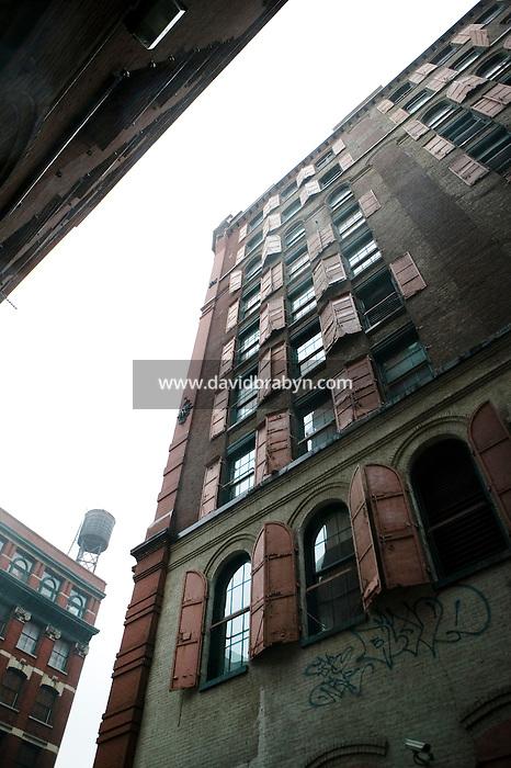 14 January 2006 - View of a street in the NoLIta neighborhood in New York City, USA, 14 January 2006.