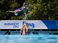 Team JPN during the training session<br /> Synchronised swimming , Synchro<br /> 12/07/2017 <br /> XVII FINA World Championships Aquatics<br /> City Park - Varosliget Lake<br /> Budapest Hungary July 14th - 30th 2017 <br /> Photo @ Giorgio Perottino/Deepbluemedia/Insidefoto