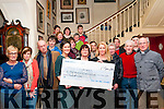 Cheque Presentation : Elaine O'Keeffe presenting a cheque for €5544.20, the proceeds of a street collection held in Listowel recently in aid of Bru Columbanus  Hospice, Cork to Anne Maria O'Conor, Bru Columbanus at the Listowel Arms Hotel on Tuesday evening last.
