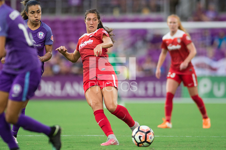 Orlando, FL - Tuesday August 08, 2017: Arielle Ship during a regular season National Women's Soccer League (NWSL) match between the Orlando Pride and the Chicago Red Stars at Orlando City Stadium.