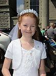 Rebecca Seery made her First Communion at the Lourdes Church on Saturday. www.newsfile.ie