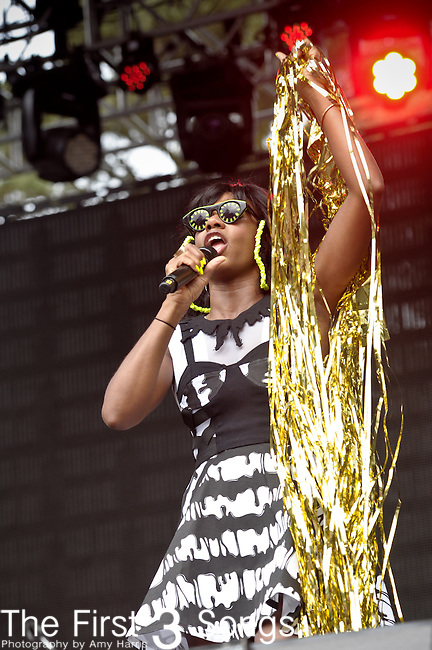 Santigold performs at the Outside Lands Music & Art Festival at Golden Gate Park in San Francisco, California..