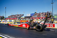 May 7, 2017; Commerce, GA, USA; NHRA top fuel driver Doug Kalitta during the Southern Nationals at Atlanta Dragway. Mandatory Credit: Mark J. Rebilas-USA TODAY Sports