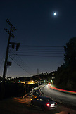 CALIFORNIA, Los Angeles, Nightview of Mullholand Drive
