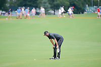 Dustin Johnson (USA) looks over his lie before his approach shot on 10 during Sunday's final round of the PGA Championship at the Quail Hollow Club in Charlotte, North Carolina. 8/13/2017.<br /> Picture: Golffile | Ken Murray<br /> <br /> <br /> All photo usage must carry mandatory copyright credit (&copy; Golffile | Ken Murray)